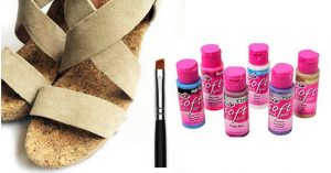 materiales para renovar sandalias de piel