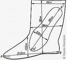 Patrones de pantuflas modelo botas