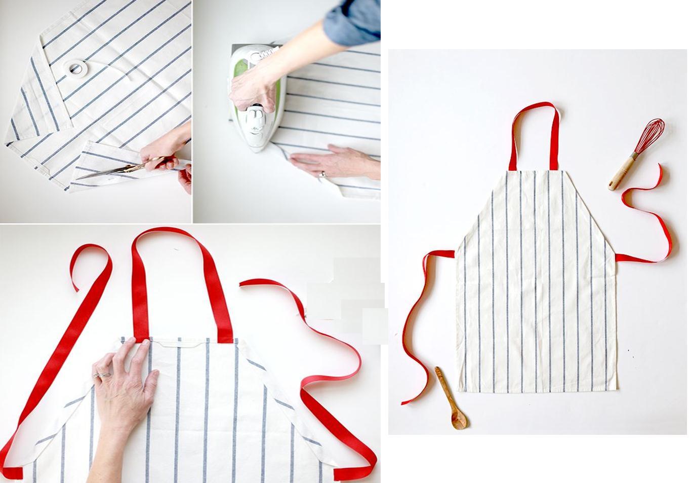 Como hacer un delantal sencillo sin costuras