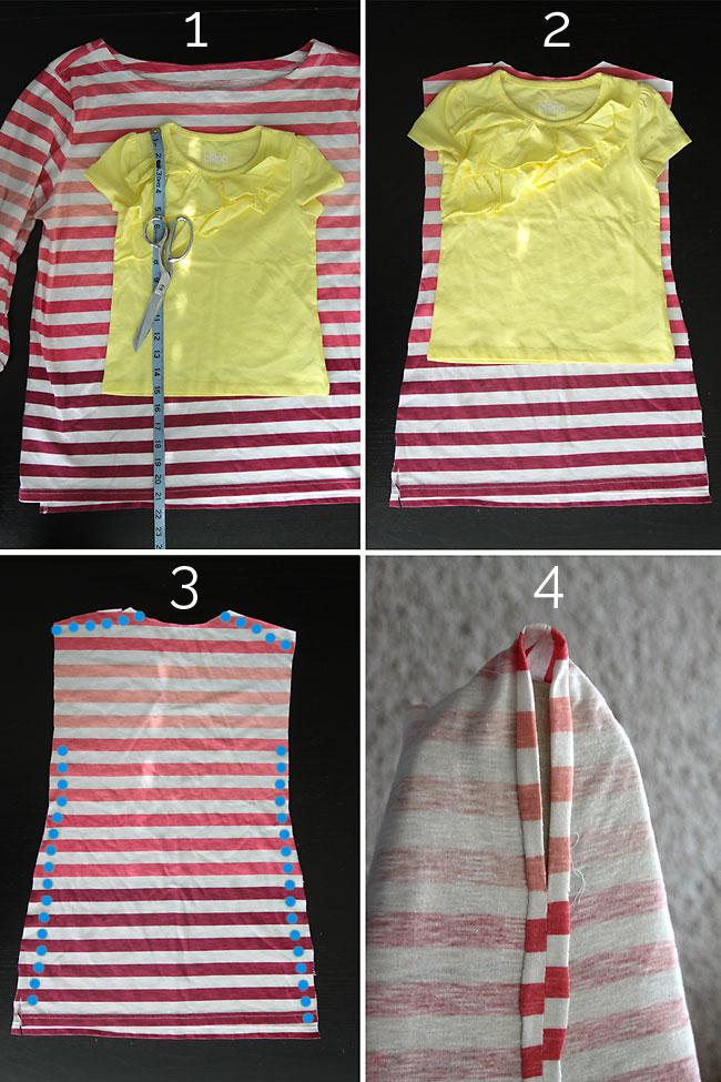 Vestido Sencillo Para Niñas Con Costuras Simples Moda