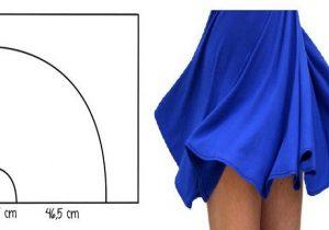 Molde-de-falda-circular talla estandar