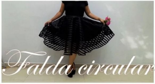 como hacer falda circular