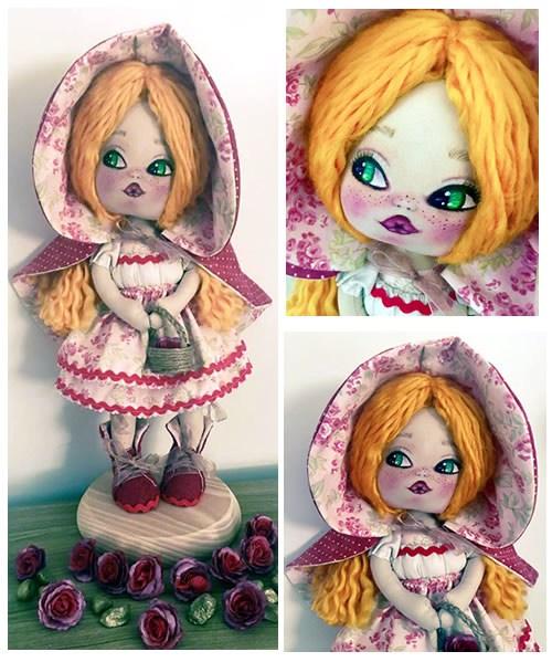 Muñeca de tela Caperucita Roja - DIY y patrones - Patrones gratis